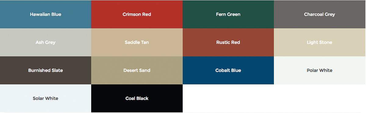 mini storage color choices